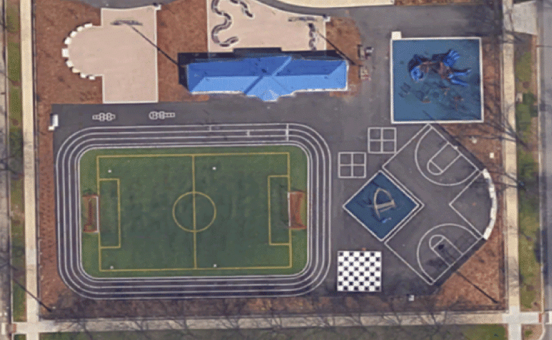 Moril Elementary Improvements - Aerial View