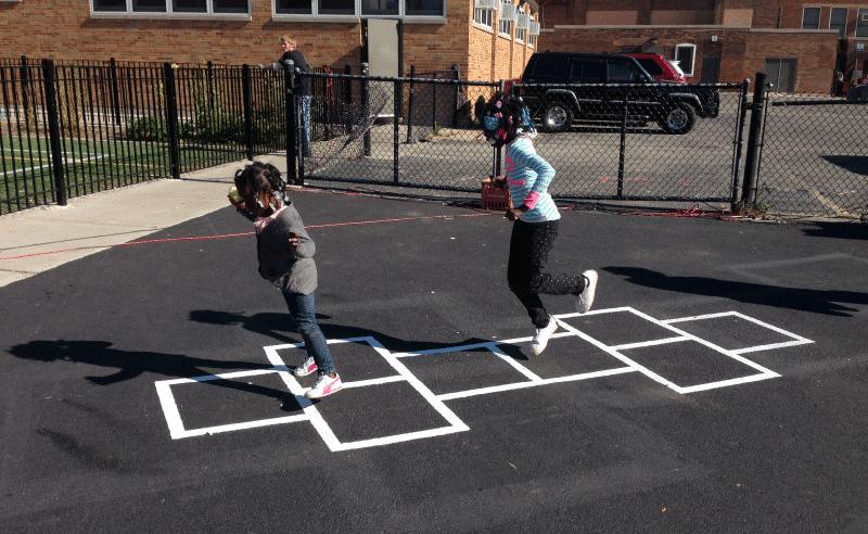 Leland Elementary Playground - Hopscotch Fun
