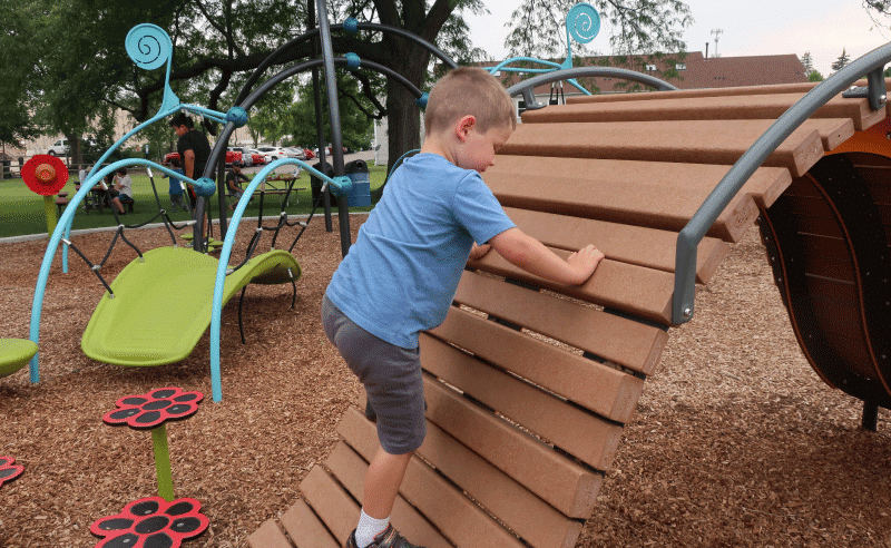 Fairview Park Playground - Boy Climbing