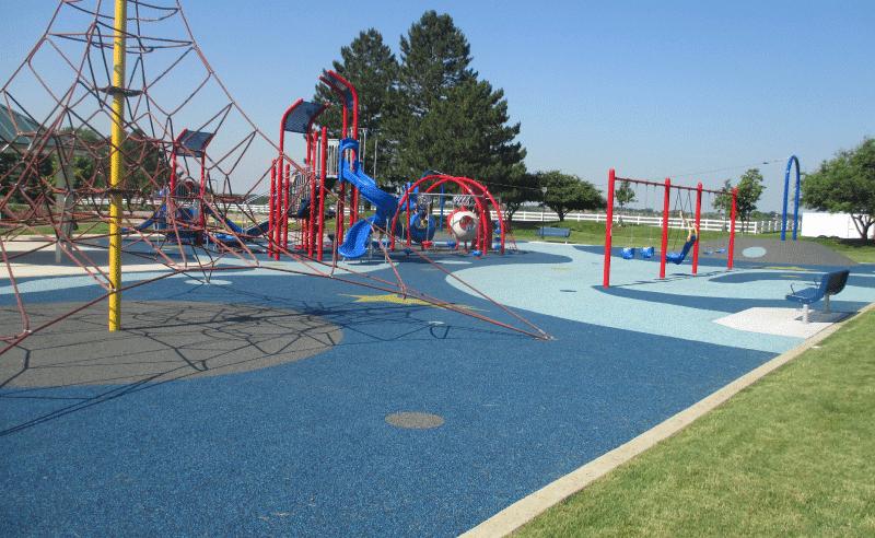 Upland Design - Engstrom Park Playground - Net Climber