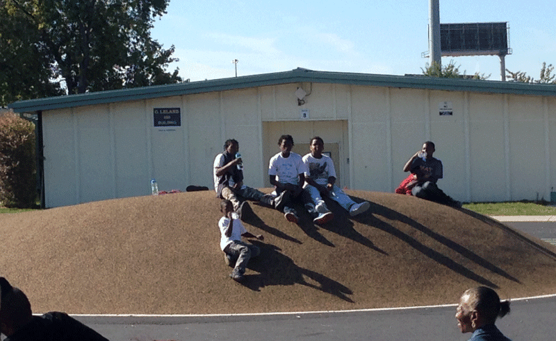 Leland Elementary Playground - Sitting on the Hills