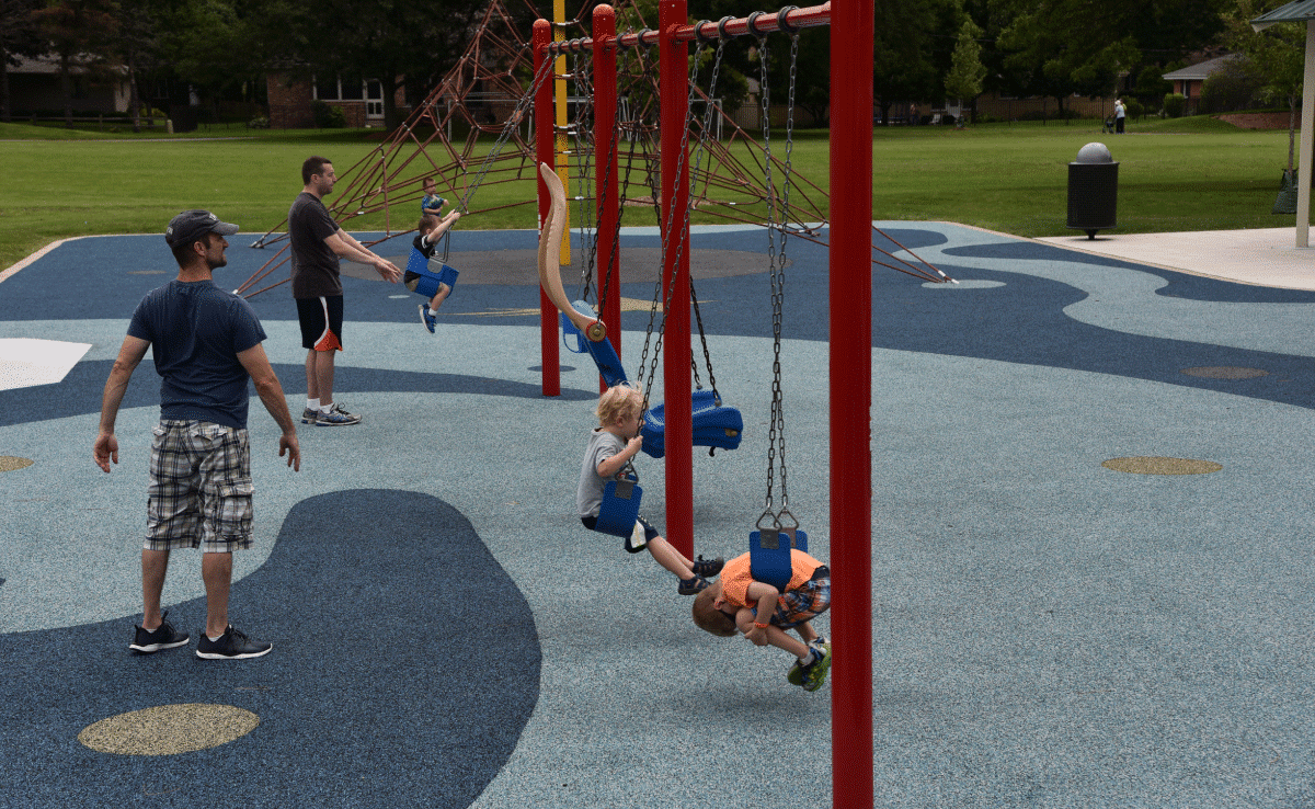 Upland Design - Engstrom Park Playground - Swings